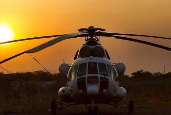 MI-8 helikopta ilikodishwa na UNMISS. Picha: UNMISS / Martine Perret