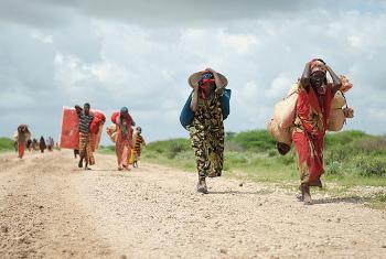 Wakimbizi wa ndani nchini Somalia. Picha ya