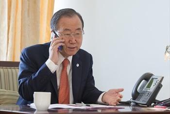 Katibu Mkuu wa UM Ban Ki-moon. (Picha: MAKTABA: