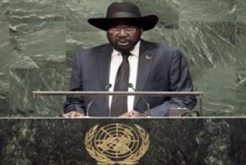 Rais Salva Kiir wa Sudan Kusini akihutubia mjadala wa wazi wa Baraza kuu la Umoja wa Mataifa. (Picha:UN/Cia Pak)