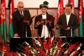 Sherehe ya kuapishwa kwa Rais wa Afghanistan Dk Mohammad Ashraf Ghani Ahmadzai.(Picha:Fardin Waezi / UNAMA)