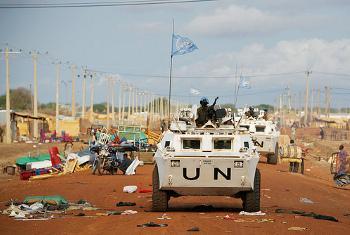 Walinda amani wa Umoja wa Mataifa mjini Abyei, Mei 2014. Picha ya