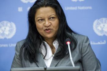 Bi Sheila B. Keetharuth, Katibu Maalum juu ya hali ya haki za binadamu nchini Eritrea. Picha: