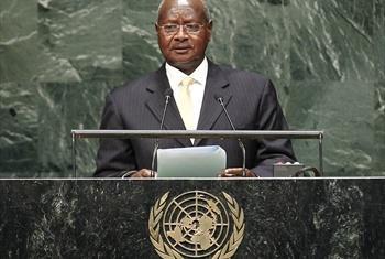 Rais Yoweri Museveni wa Uganda.Picha ya
