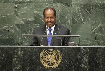 Rais wa Somalia, Hassan Sheikh Mohamoud.