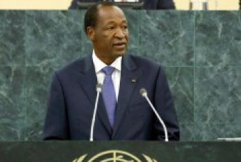 Blaise Compaore, wakati akihutubia Baraza Kuu la Umoja wa Mataifa mwaka 2013. (Picha:Rick Bajornas)