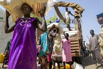 Msaada wa chakula nchini Sudan Kusini.