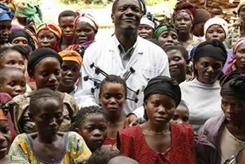 Daktari Denis Mukwege wa DRC.(Picha ya Radio Okapi maktaba)