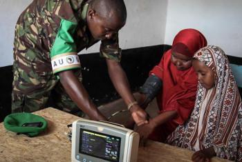 Kliniki inayoendeshwa na AMISOM, Kismayo, Somalia. Picha: