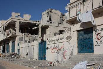 Mji wa Sirte, nchini Libya, baada ya mapigano ya 2011. Picha ya IRIN/Heba Aly