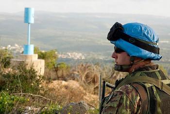 Mlinda amani kwenye doria mpakani mwa Lebanon na Israel. Picha ya UN/Eskinder Debebe