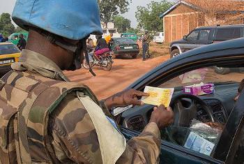 Moja ya majukumu ya MINUSCA ni kurejesha hali ya usalama mjini Bangui. Picha ya MINUSCA.