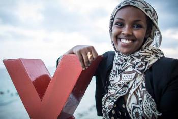 Ilwad Elman wa Somalia ni mmoja wa wasichana waliozungumza kuhusu ndoa za utotoni kupitia mitandao wa kijamii. Picha kutoka akaunti ya Twitter ya UNICEF