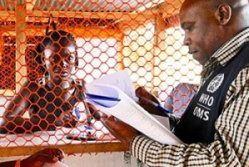 Nchini Liberia hapa ni ukaguzi katika moja ya vyumba vya karantini maeneo ya mpakani ya Voinjama .(Picha: WHO/M. Winkler) (MAKTABA)