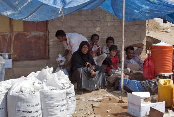Wakimbizi waliokimbia mapigano nchini Yemen.(Picha:OCHA)