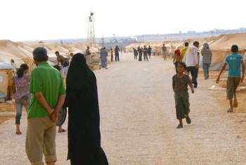 Zaidi ya wakimbizi 14,500 wa Syria sasa wamehifadhiwa katika kambi ya Za'atri Jordan. Picha:UNHCR/A.McDonnell