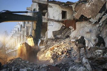 Eneo la mashambulizi ya bomu nchini Iraq mjini Baghdad la mwaka .2003(Picha:UM/Timothy Sopp)