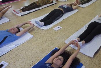 Mazoezi ya yoga.(Picha:UM/Pasqual Gorriz)