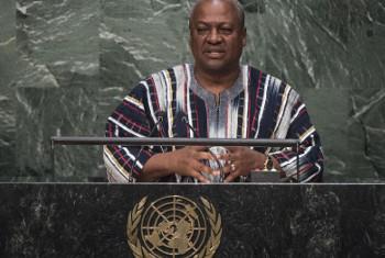 Rais wa Ghana, John Mahama. Picha: