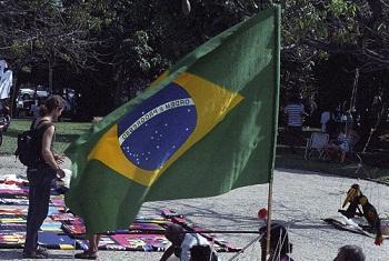 Bendera ya Brazil mjini Rio de Janeiro nchini Brazil.(Picha:UM/Ruby Mera)