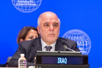 Waziri Mkuu wa Iraq Haider al-Abadi. Picha ya UN/Eskinder Debebe
