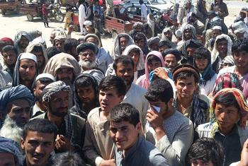 Wakimbizi wa ndani kwenye eneo la Kunduz, Afghanistan. Picha ya OCHA/Mohammad Sadiq Zaheer