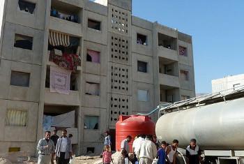 Usambazaji wa maji Damascus, Syria. (Picha:OCHA/Ben Parker)
