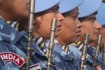 Walinda amani wa UNMIL.(Picha:UNifeed/Video capture)