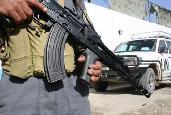 Askari wa polisi mjini Kabul, Afghanistan. Picha ya Obinna Anyadike / IRIN
