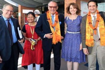 Naibu Katibu Mkuu Jan Eliasson akiwa Nepal. (Picha: Pnud/Nepal)
