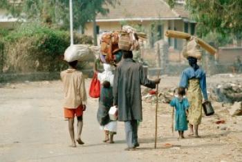 Wakimbizi wa Rwanda waliokimbilia DRC:Picha na UM/John Isaac