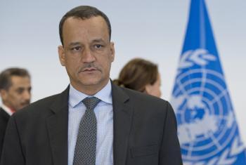 Ismail Ould Cheikh Ahmed kwenye mashauriano kuhusu Yemen. Picha: