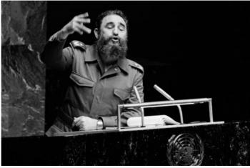 Rais wa zamani wa Cuba, Fidel Castro alipokuwa anahutubia Baraza Kuu la Umoja wa Mataifa. (Picha:Maktaba/UM/Saw Lwin)