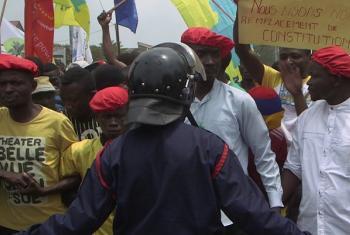 Maandamano nchini DRC.(Picha:MONUSCO