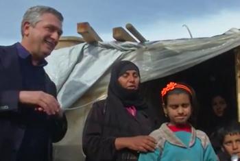 Kamishna Mkuu wa UNHCR amewatembelea wasaka hifadhi walioko nchini Misri. Picha: UM/Video capture