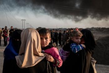 Wakimbizi walliopoteza makazi Mosul. Picha: UNHCR/ Ivor Prickett