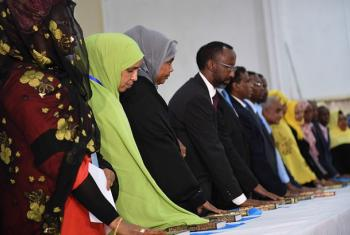Wabunge wapya waaapishwa mjini Mogadishu nchini Somalia.(Picha:AMISOM Photo / Ilyas Ahmed)