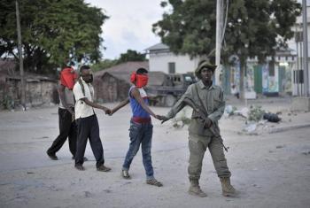 Operesheni ya kukamata wafuasi wa Al Shabaab mjini Mogadishu nchini Somalia (maktaba).Picha: UM/Tobin Jones