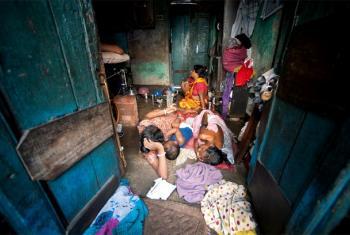 Jamii wanaoishi na umaskini Sonagachi, Kolkata, India.(Picha:UM/Kibae Park)