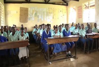 Watoto darasani nchini Uganda.(Picha;UNICEF/Video Capture)