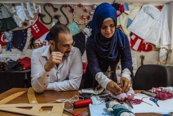 Wahamiaji wajasiriamali kutoka Syria walioko nchini Turkey wapata mafunzo ya ufundi stadi kupitia programu ya mshikamano ya kijamii. Picha: IOM
