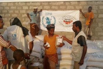 Usambazaji wa misaada nchini Yemen.(Picha:WFP)