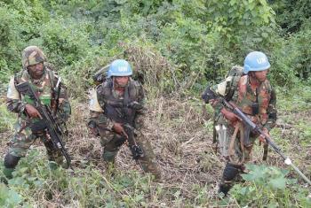 Walinda amani wa MONUSCO walipiga doria nchini DRC.(Picha:MONUSCO)