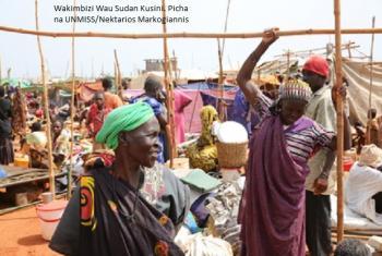 Wakimbizi wa ndani katika eneo la ulinzi wa raia Wau nchini Sudan Kusini. Picha:UNMISS/Nektarios Markogiannis.