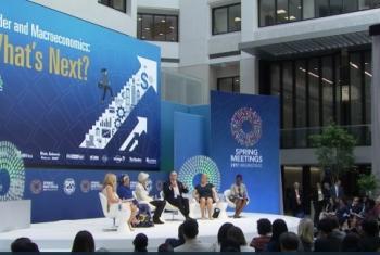 Jopo lililoandaliwa na IMF na kampuni ya habari ya CNBC, katika mji mkuu wa Marekani, Washington DC.(Picha:UNifeed/video capture)