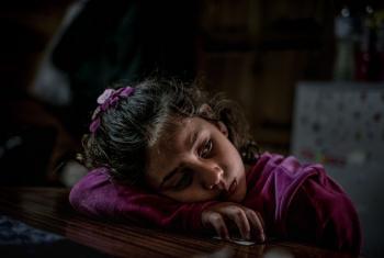 Mtoto mkimbizi kutoka Syria akiwa kambini nchini Ugiriki.(Picha:UNICEF/Gilbertson VII)