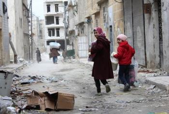 Mjini Aleppo. wakimbizi warejea nyumbani. Picha: © UNHCR/Hameed Marouf