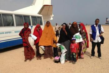 Wahamiaji wa Ethiopia waliokwama puntland warejea nyumbani. Picha: IOM
