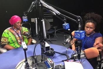 Bi Rebecca Altsi(kulia) na Bi Fatma Wangare wakihojiwa na Idhaa ya Kiswahili. Picha: UM/Idhaa ya Kiswahili