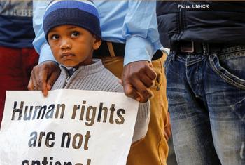 Waandamanaji wa amani nchini Libya. Picha: UNHCR